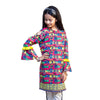 Say Cheese 1 Pc Unstitched Kurti For Girls - Multi (LWN-06)