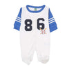 Number 86 Romper For Infants - White/Blue (IR-02)