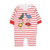 Fancy Dinosaur Romper For Infants - Red/White (IR-01)