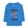 Super Mario Printed T-Shirt For Boys - Blue (0857)