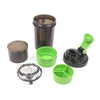 Spider Protein Shaker Bottle 500ml - Black/Green (WB-ZW-801)