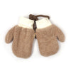 Fancy Winter Gloves For Kids - Brown (WG-02)