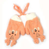 Teddy Bear Winter Gloves For Kids - Orange (WG-03)