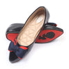 Fancy Ballerina Pumps For Girls - Navy (107-4)