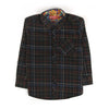 Check Print Shirt For Boys - Black (3470)