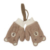 Teddy Bear Winter Gloves For Kids - Brown (WG-05)