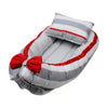 Baby Carry Cotton Nest - Grey/Red (2028)