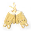 Cute Kitty Shape Winter Gloves For Kids - Yellow (WG-07)