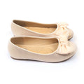 Fancy Bow Pumps For Girls - Beige (1005-8)
