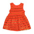 Fancy Sequin Frock For Girls - Orange (6367)