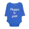 Phuppo Ki Jaan Romper For Infants - Blue (3802)