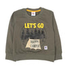 Let's Go Printed Sweat Shirt For Boys - Olive (1970)