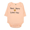 Nani Nana Love You Romper For Infants - Orange (3804)