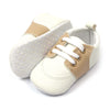 Fancy Stylish Booties For Boys - White/Brown (BB-37)
