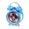 Captain America Dial Outer Bell Table Alarm Clock For Kids - Multi Color (AC-41)