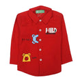 Hello Bears Printed Shirt For Infants - Red (2019)
