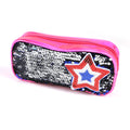 Star Sequin Pencil Pouch - Pink (WH03)