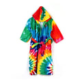 Tie Dye Hooded Bathrobe For Kids - Multi (BR-22)