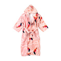 Bird Hooded Bathrobe For Kids - Peach (BR-15)