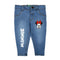 Minnie Mouse Denim Pant For Girls - Ice Blue (DP-041)