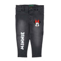 Minnie Mouse Denim Pant For Girls - Light Grey (DP-040)