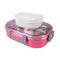 Tedemei Rectangle Stainless Steel Food Container - Red (6527)