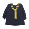 Casual Lace Top For Girls - Navy (GT-046)