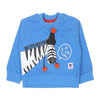 Zebra Printed Sweat Shirt For Boys - Blue (2106)