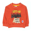 Let's Go Printed Sweat Shirt For Boys - Orange (1970)