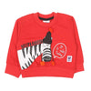 Zebra Printed Sweat Shirt For Boys - Red (2106)