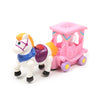Carriage Horse Car For Kids - White/Pink (7733)