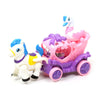 Cygnet & Carriage Car For Kids - White/Pink (009-22)