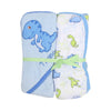 Tyrannosaurus Baby Bath Towel 2 Pcs - Blue/Green