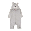 Panda Hooded Romper For Infants - Grey (BR-51)