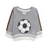 Football Printed Sweat Shirt For Infant - Grey (1961)