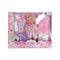 Baby Born Doll Playing Set For Kids - Pink (119A)