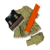 Frock & Coatie 3 PCs Suit For Girls - Green (E3PC-06)