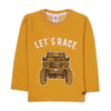 Let's Race T-Shirt For Boys - Orange (BTS-46)
