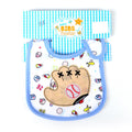 Baseball Glove Bibs For Baby - Blue (IS-35)