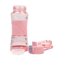 Push Button Water Bottle 550ml - Pink (8882)