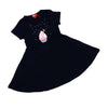 Cup Cake Frock For Girls - Navy (GF-36)