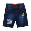 Emb Denim Short For Boys - Mid Blue (004)