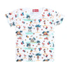 Beach Printed T-Shirt For Girls - White (TZ-02)