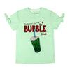 Bubble Drink Sequin T-Shirt For Girls - Green (GTS-23)