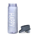 Happy Stylish Water Bottle 550ml - Gray (1312)