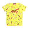 Aloha Printed T-Shirt For Girls - Yellow (TZ-05)