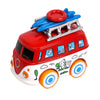 Volkswagen Pull Back Bus Toy - Red (MY66)
