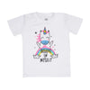 Unicorn T'Shirt For Girls - White (BTS-045)