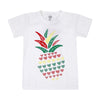 Pineapple T'Shirt For Girls - White (BTS-044)