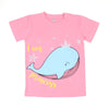 Dolphin T'Shirt For Girls - Pink (BTS-042)